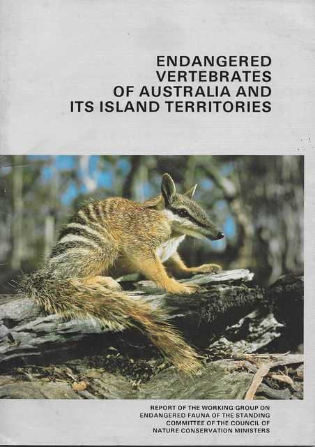 Image for Endangered Vertebrates of Australia and its Island Territories