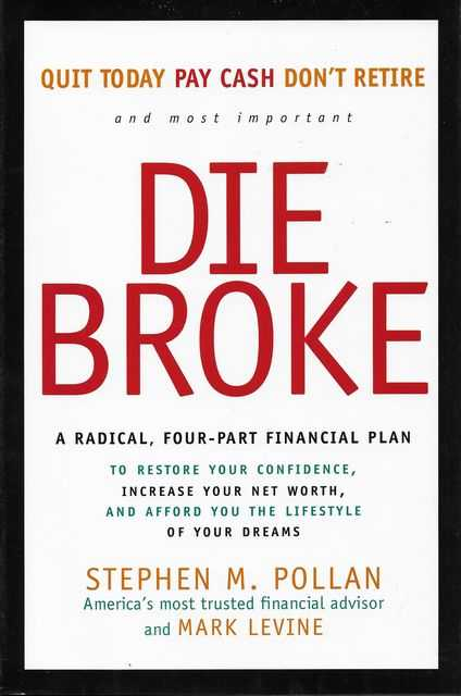 Image for Don't Die Broke: A Radical, Four-Part Fianncial Plan