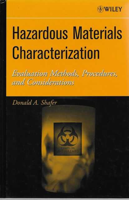 Image for Hazardous Materials Characterization: Evaluation Methods, Procedures and Considerations