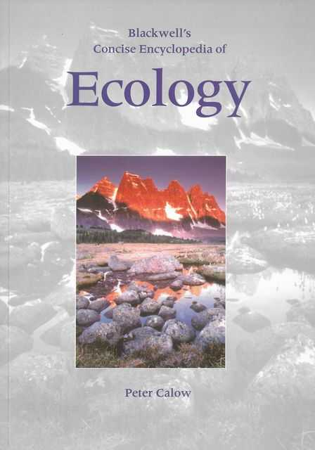 Image for Blackwell's Concise Encyclopedia of Ecology