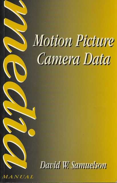 Image for Motion Picture Camera Data [Media Manual]