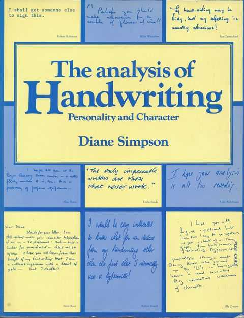Image for The Analysis of Handwriting: Personalilty and Character