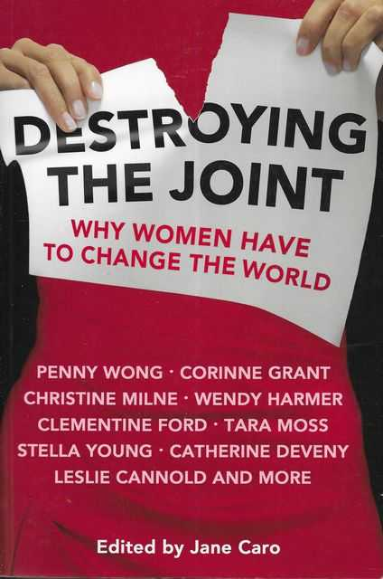 Image for Destroying The Joint: Why Women Have To Change The World