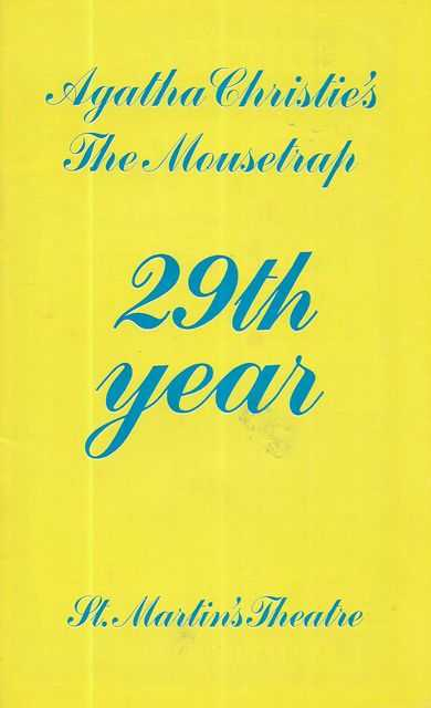 Image for Agatha Christie's Mousetrap 29th Year - St Martin's Theatre [Souvenir Program]