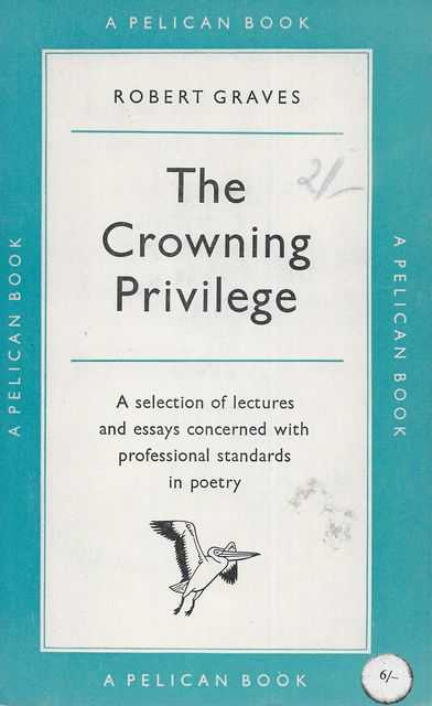 Image for The Crowning Privilege: Collected Essays on Poetry
