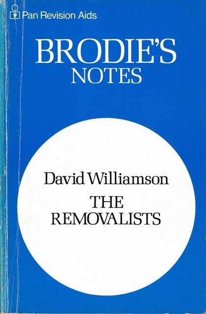 Image for Brodie's Notes on David Williamson The Removalists