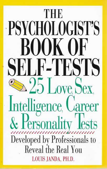 Image for The Psychologist's Book of Self-Tests - 25 Love, Sex, Intelligence, Career & Personality Tests