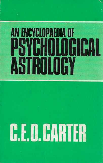 Image for An Encyclopaedia of Psychological Astrology