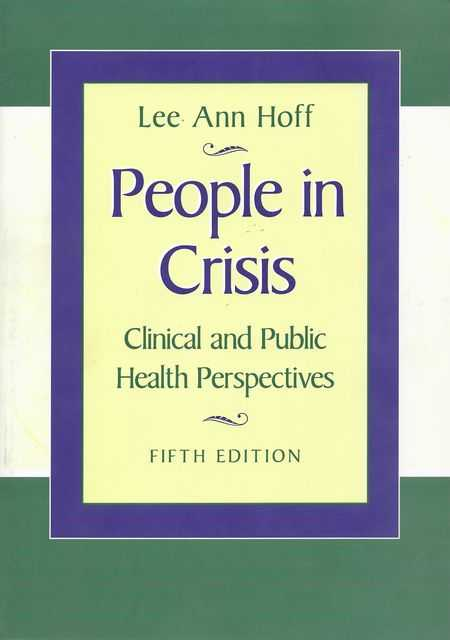 Image for People In Crisis: Clinical and Public Health Perspectives