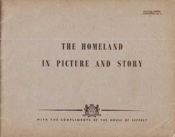 Image for The Homeland in Picture and Story [Bulletin Reprint Publication No. 2]