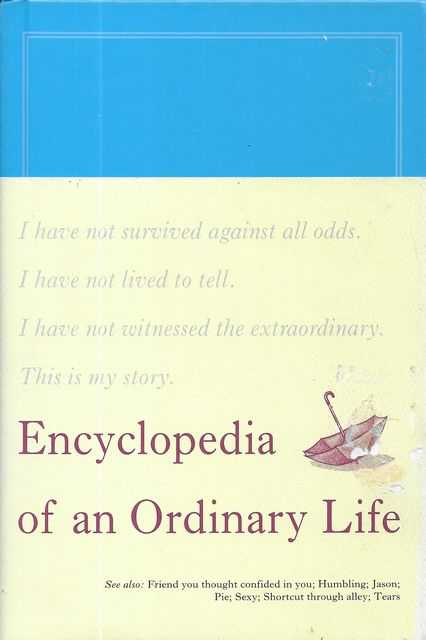 Image for Encyclopedia of an Ordinary Life [Volume One]