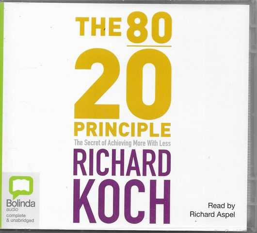 Image for The 80 20 Principle: The Secret of Achieving More with Less [8CD Set]