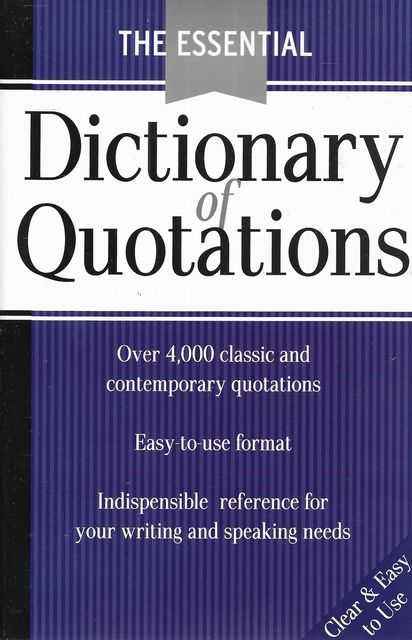 Image for The Essential Dictionary of Quotations