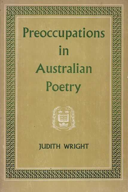 Image for Preoccupations in Australian Poetry